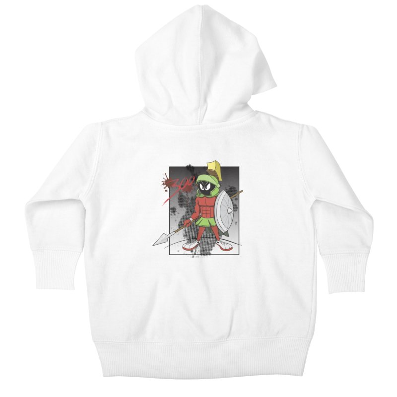 Marvin the Spartan Kids Baby Zip-Up Hoody by YiannZ's Artist Shop