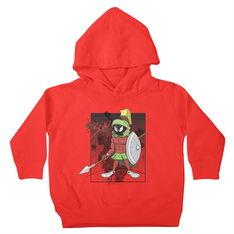 Marvin the Spartan Kids Toddler Pullover Hoody by YiannZ's Artist Shop