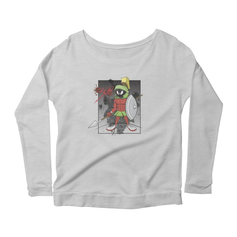Marvin the Spartan Women's Scoop Neck Longsleeve T-Shirt by YiannZ's Artist Shop