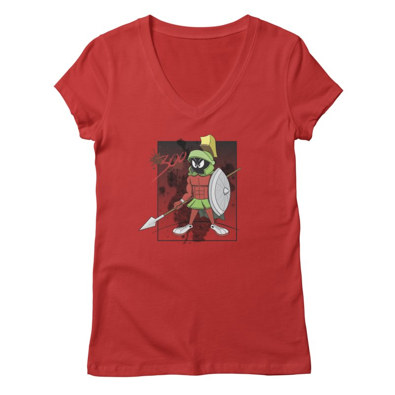 Marvin the Spartan Women's Regular V-Neck by YiannZ's Artist Shop