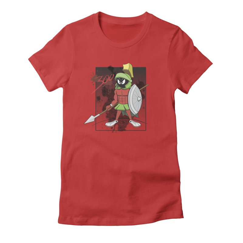 Marvin the Spartan Women's Fitted T-Shirt by YiannZ's Artist Shop