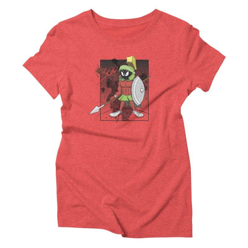 Marvin the Spartan Women's Triblend T-Shirt by YiannZ's Artist Shop