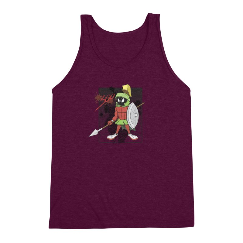 Marvin the Spartan Men's Triblend Tank by YiannZ's Artist Shop