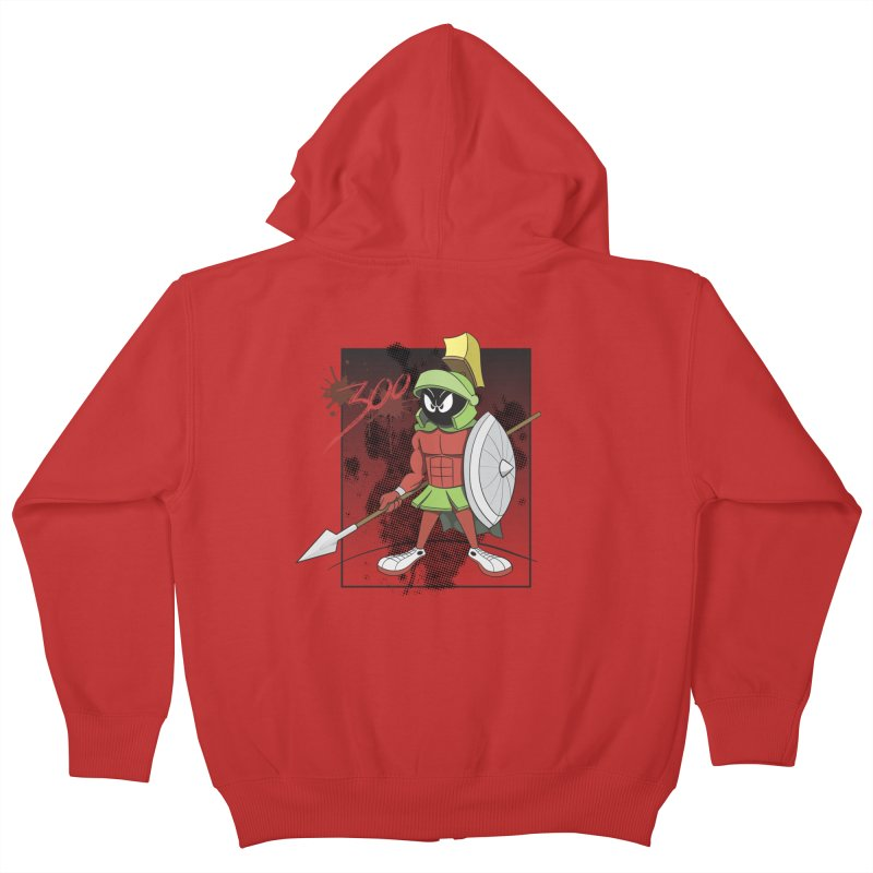 Marvin the Spartan Kids Zip-Up Hoody by YiannZ's Artist Shop