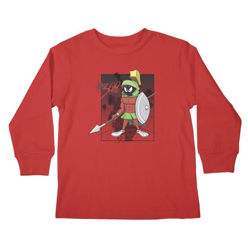 Marvin the Spartan Kids Longsleeve T-Shirt by YiannZ's Artist Shop