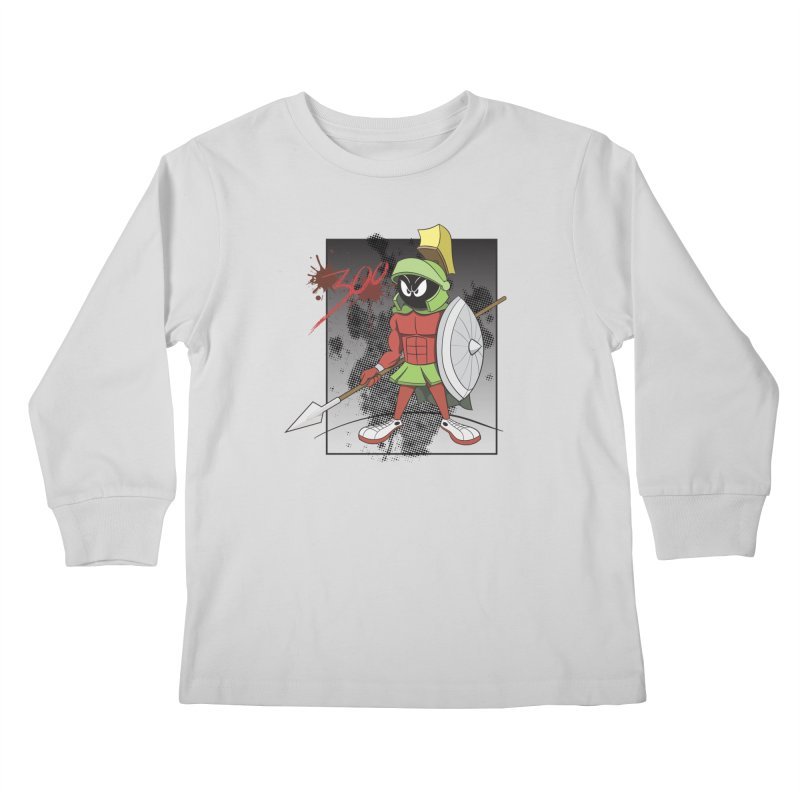 Marvin the Spartan Kids Longsleeve T-Shirt by YiannZ's Artist Shop