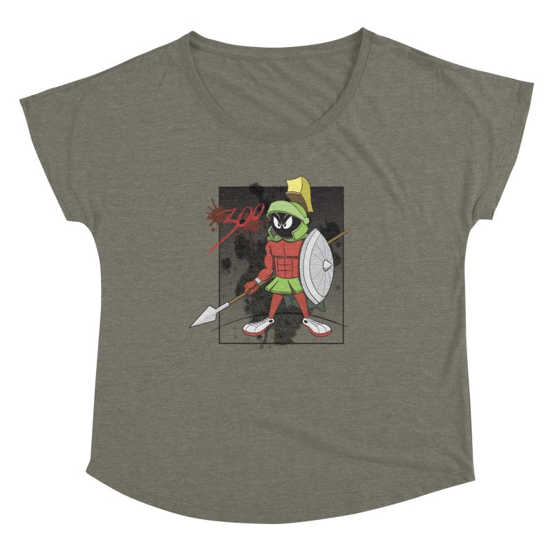 Marvin the Spartan Women's Scoop Neck by YiannZ's Artist Shop