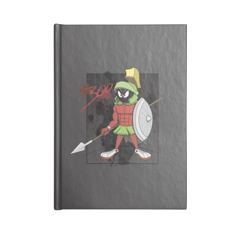 Marvin the Spartan Accessories Blank Journal Notebook by YiannZ's Artist Shop