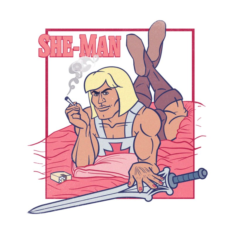 HE-MAN in Pulp Fiction Women's V-Neck by YiannZ's Artist Shop
