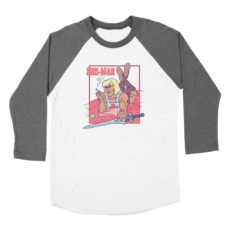 HE-MAN in Pulp Fiction Women's Longsleeve T-Shirt by YiannZ's Artist Shop