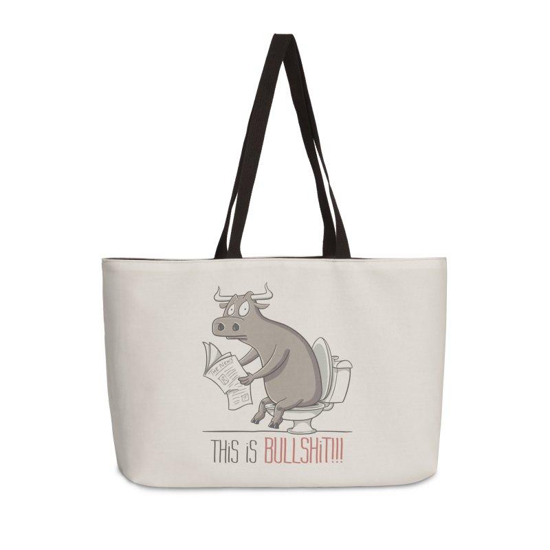 This is Bullshit Accessories Weekender Bag Bag by YiannZ's Artist Shop