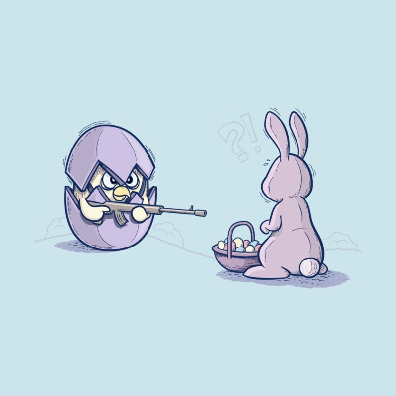 Easter Bunny in trouble by YiannZ's Artist Shop
