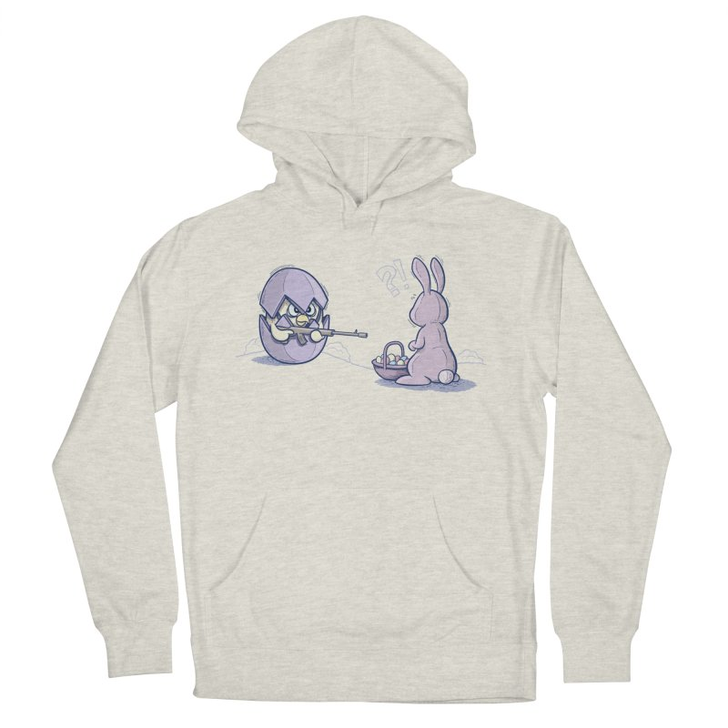 Easter Bunny in trouble Men's French Terry Pullover Hoody by YiannZ's Artist Shop