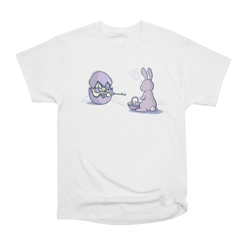 Easter Bunny in trouble Men's Heavyweight T-Shirt by YiannZ's Artist Shop