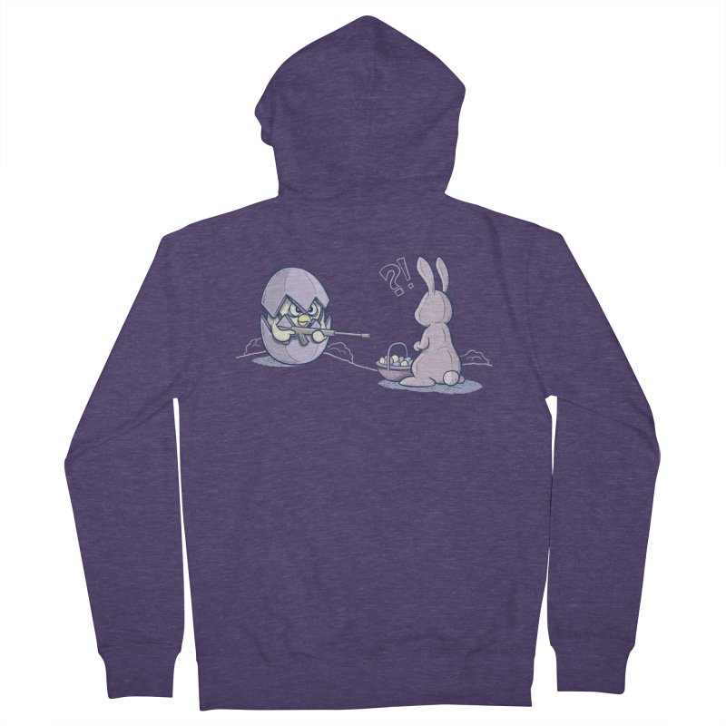 Easter Bunny in trouble Men's Zip-Up Hoody by YiannZ's Artist Shop