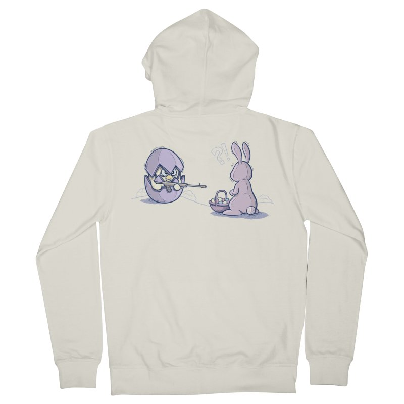 Easter Bunny in trouble Men's French Terry Zip-Up Hoody by YiannZ's Artist Shop