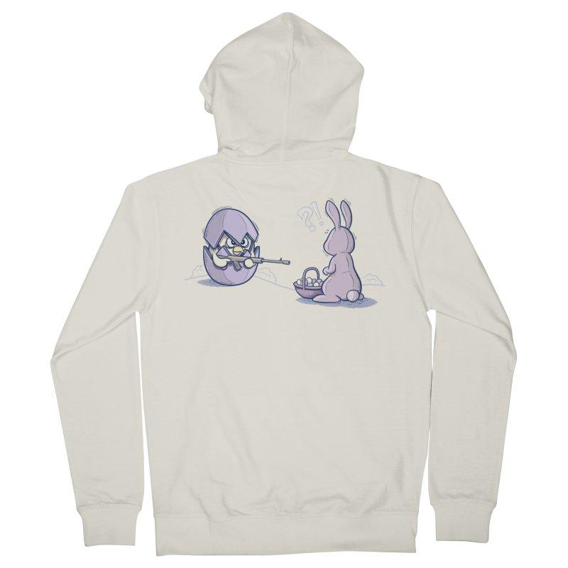 Easter Bunny in trouble Men's Zip-Up Hoody by YiannZ's Artist Shop