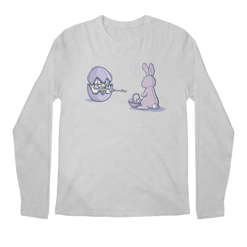 Easter Bunny in trouble Men's Regular Longsleeve T-Shirt by YiannZ's Artist Shop
