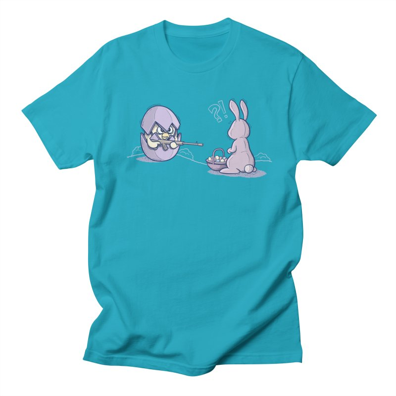 Easter Bunny in trouble Men's Regular T-Shirt by YiannZ's Artist Shop