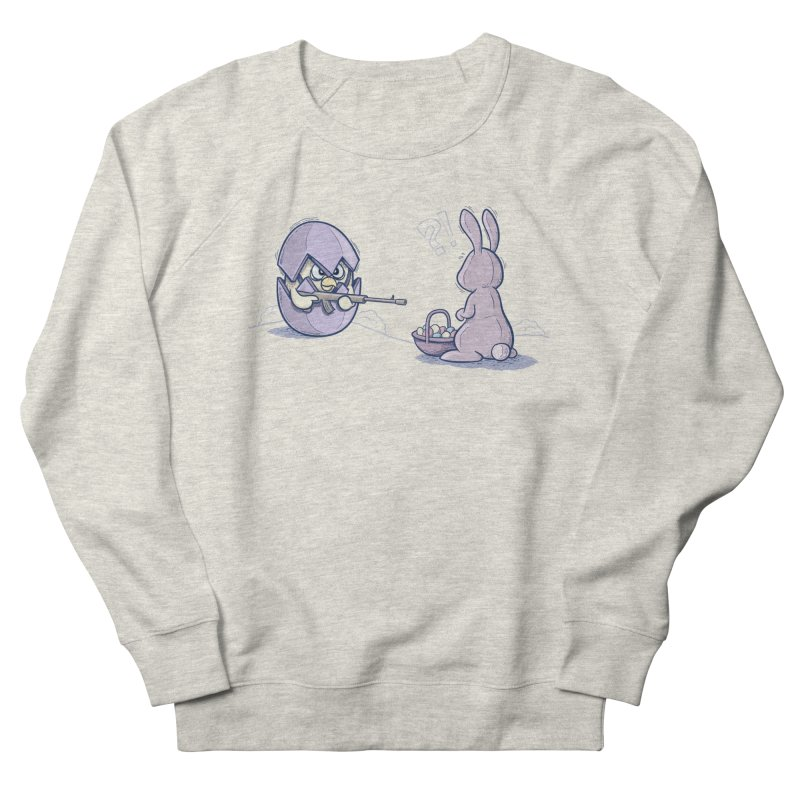 Easter Bunny in trouble Men's French Terry Sweatshirt by YiannZ's Artist Shop
