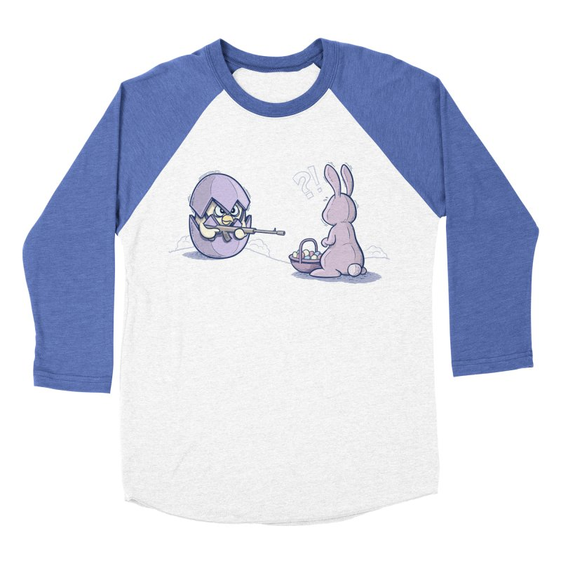 Easter Bunny in trouble Women's Baseball Triblend Longsleeve T-Shirt by YiannZ's Artist Shop