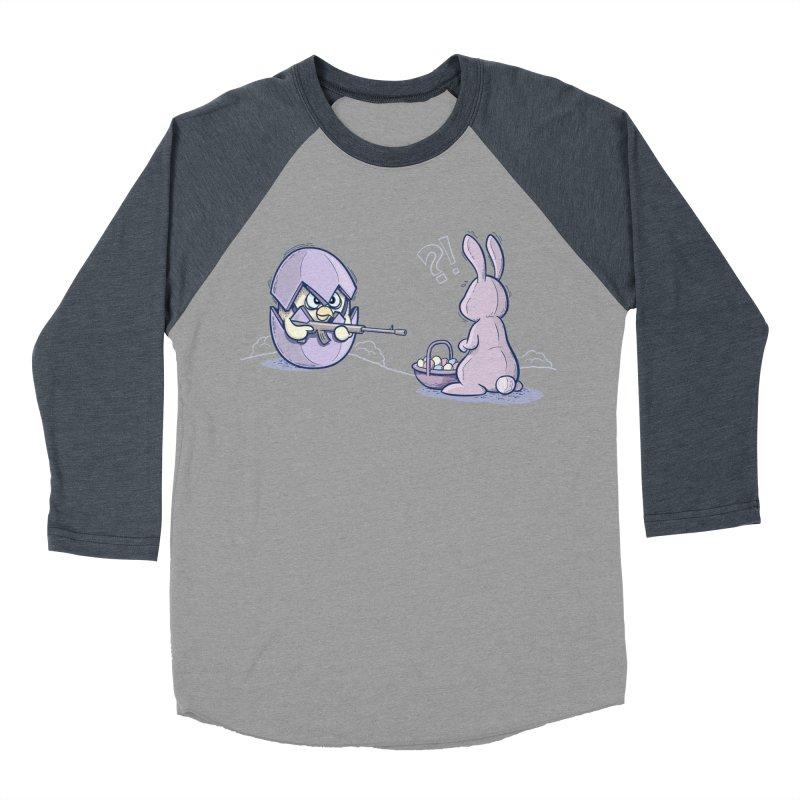 Easter Bunny in trouble Women's Baseball Triblend Longsleeve T-Shirt by YiannZ's Artist Shop