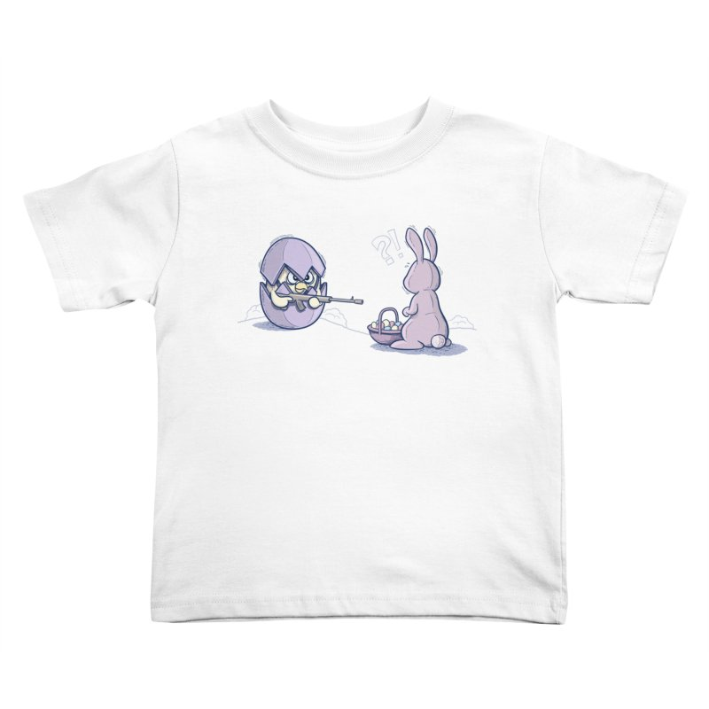 Easter Bunny in trouble Kids Toddler T-Shirt by YiannZ's Artist Shop