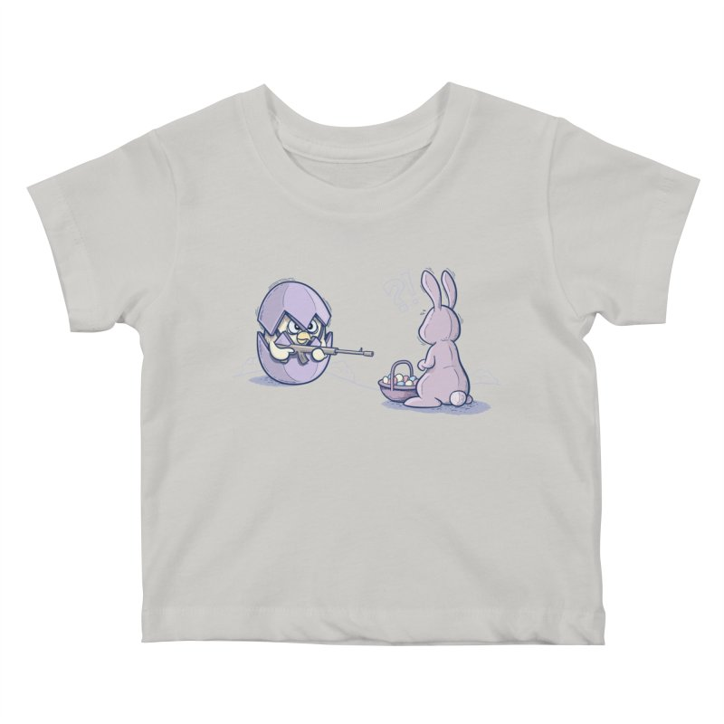 Easter Bunny in trouble Kids Baby T-Shirt by YiannZ's Artist Shop