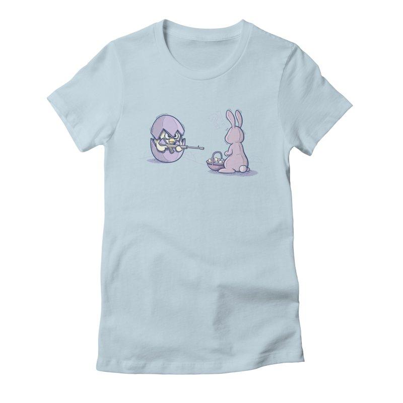 Easter Bunny in trouble Women's T-Shirt by YiannZ's Artist Shop