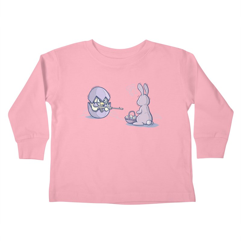 Easter Bunny in trouble Kids Toddler Longsleeve T-Shirt by YiannZ's Artist Shop