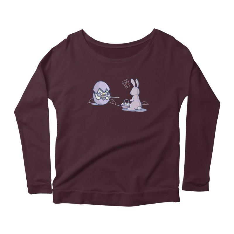 Easter Bunny in trouble Women's Longsleeve T-Shirt by YiannZ's Artist Shop