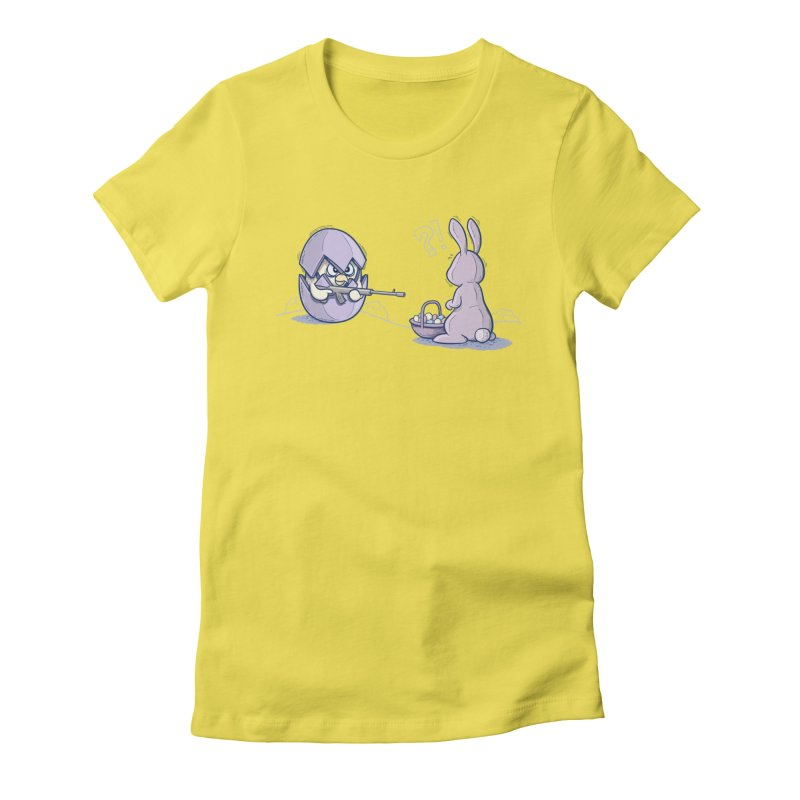 Easter Bunny in trouble Women's T-Shirt by YiannZ's Artist Shop