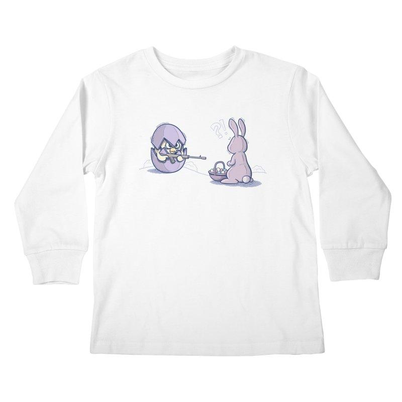 Easter Bunny in trouble Kids Longsleeve T-Shirt by YiannZ's Artist Shop