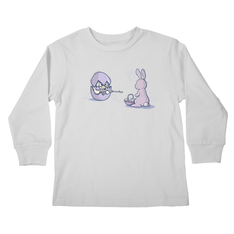 Easter Bunny in trouble Kids Longsleeve T-Shirt by YiannZ's Artist Shop