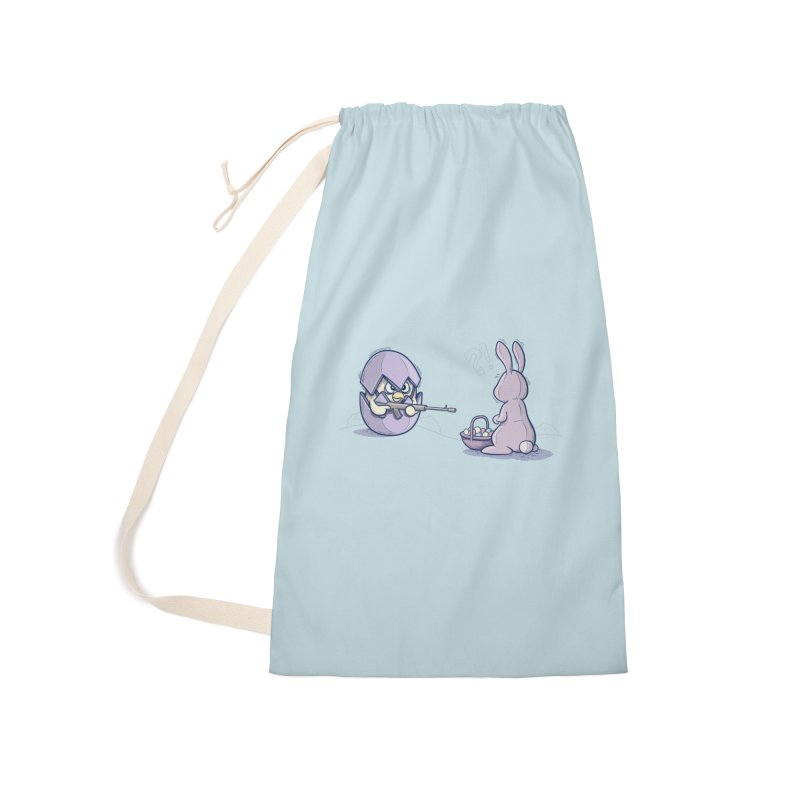Easter Bunny in trouble Accessories Bag by YiannZ's Artist Shop
