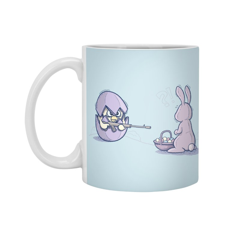 Easter Bunny in trouble Accessories Mug by YiannZ's Artist Shop