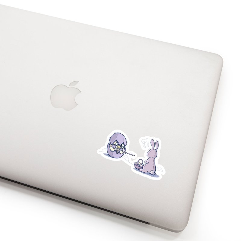 Easter Bunny in trouble Accessories Sticker by YiannZ's Artist Shop