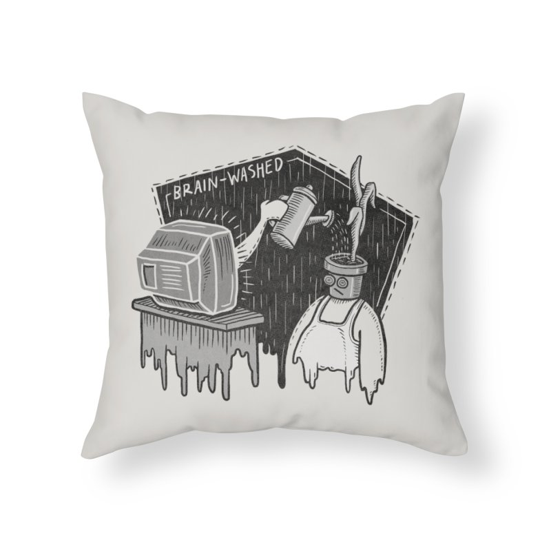 Brain-Washed Home Throw Pillow by YiannZ's Artist Shop