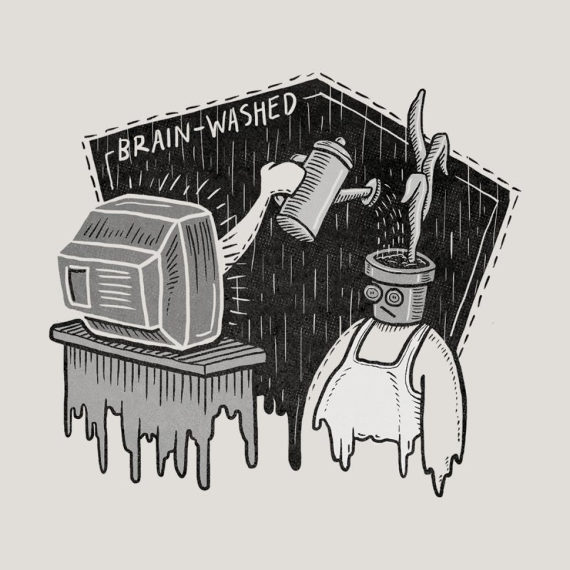 Brain-Washed Men's V-Neck by YiannZ's Artist Shop