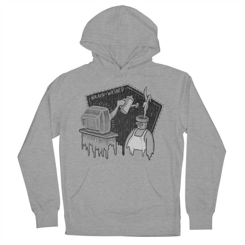 Brain-Washed Men's French Terry Pullover Hoody by YiannZ's Artist Shop