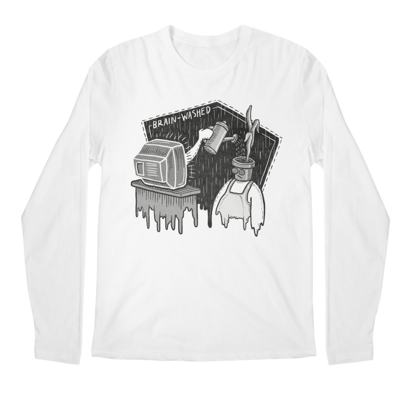 Brain-Washed Men's Regular Longsleeve T-Shirt by YiannZ's Artist Shop
