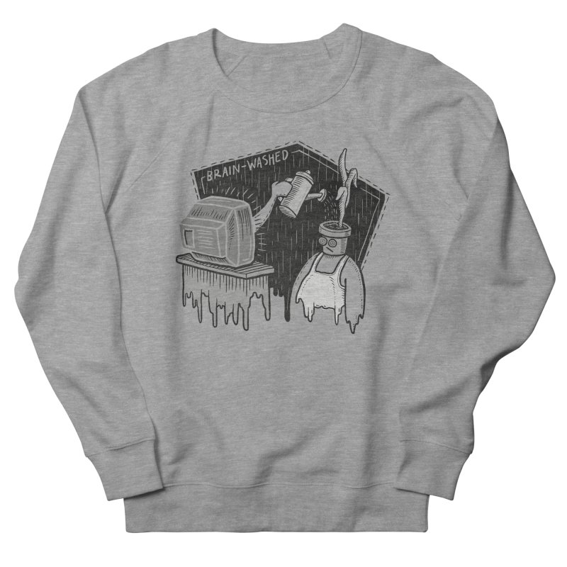 Brain-Washed Men's French Terry Sweatshirt by YiannZ's Artist Shop