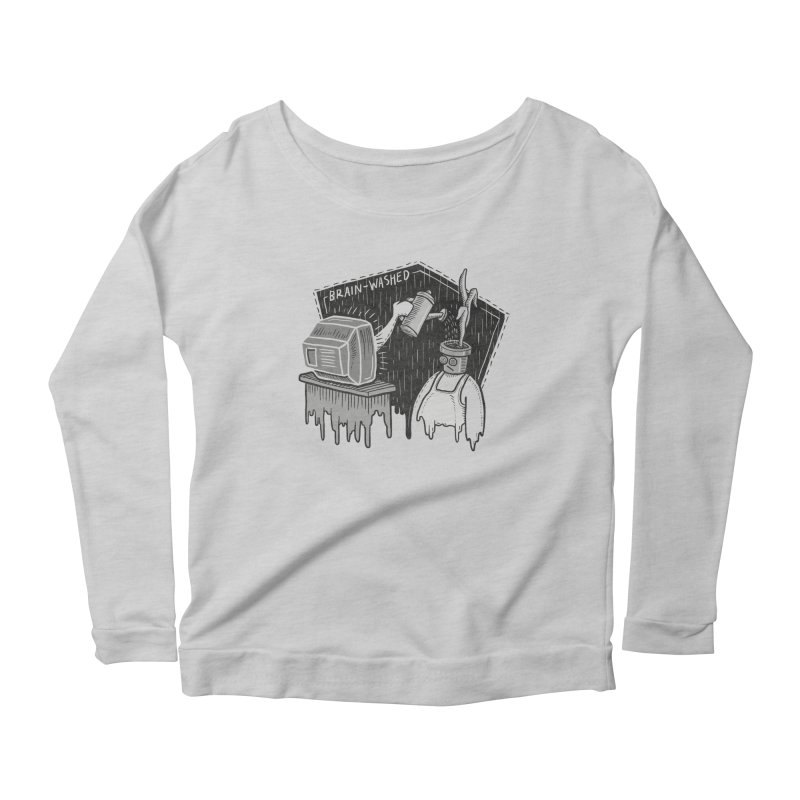 Brain-Washed Women's Longsleeve T-Shirt by YiannZ's Artist Shop