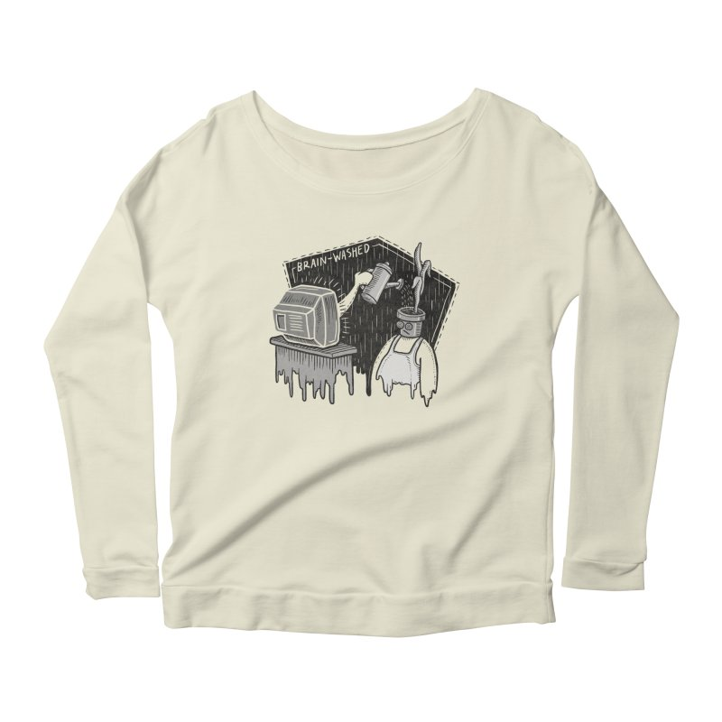 Brain-Washed Women's Scoop Neck Longsleeve T-Shirt by YiannZ's Artist Shop