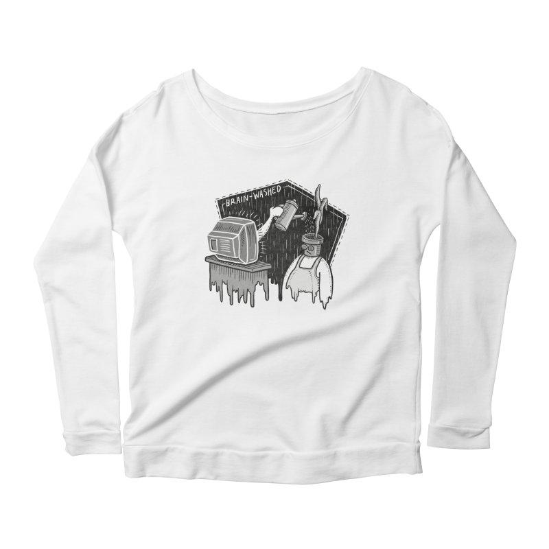 Brain-Washed Women's Scoop Neck Longsleeve T-Shirt by YiannZ's Artist Shop