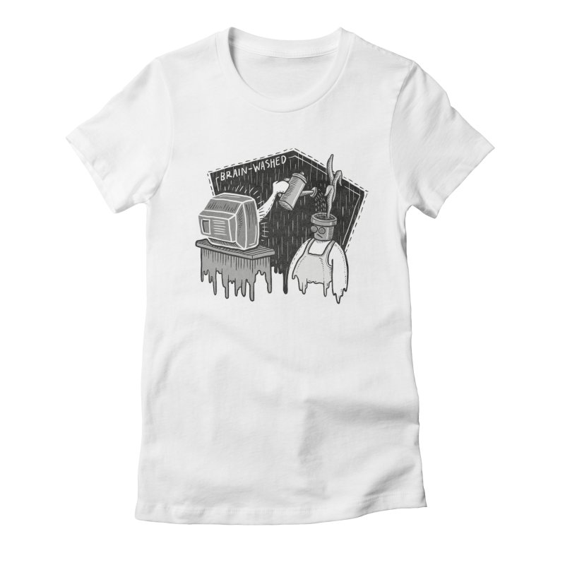 Brain-Washed Women's Fitted T-Shirt by YiannZ's Artist Shop
