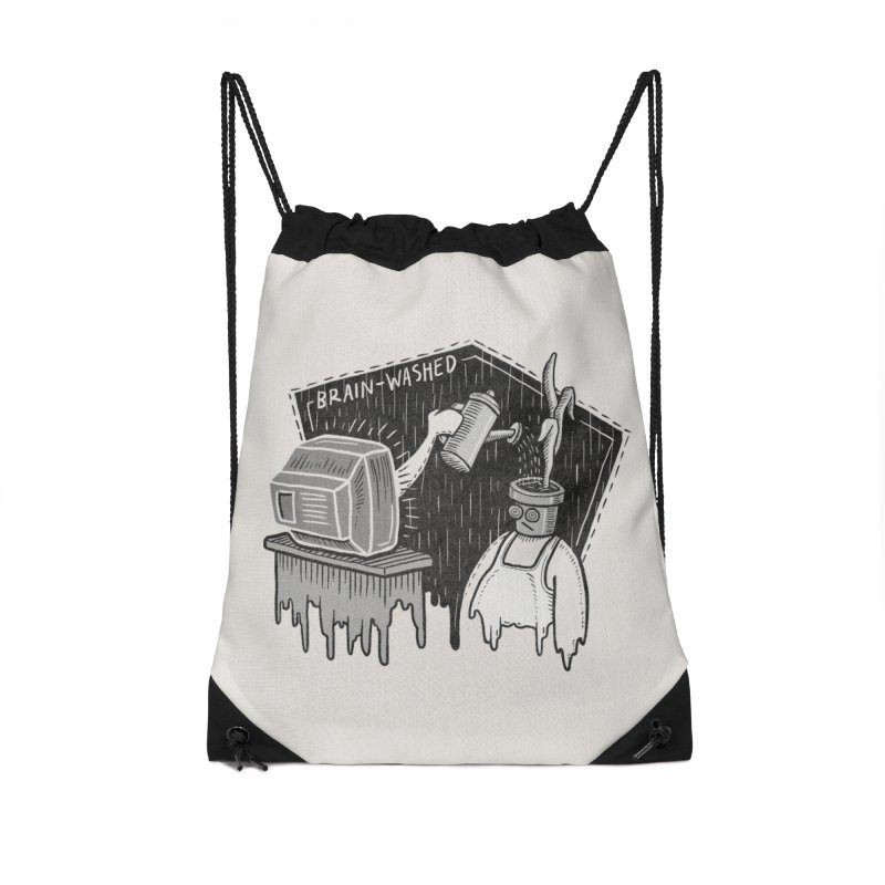 Brain-Washed Accessories Drawstring Bag Bag by YiannZ's Artist Shop