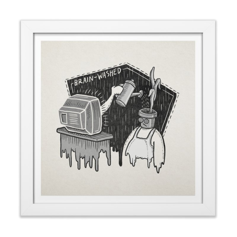 Brain-Washed Home Framed Fine Art Print by YiannZ's Artist Shop
