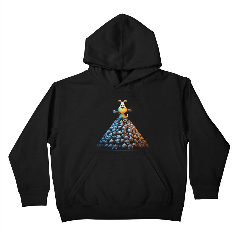 CAT-EATER Kids Pullover Hoody by YiannZ's Artist Shop