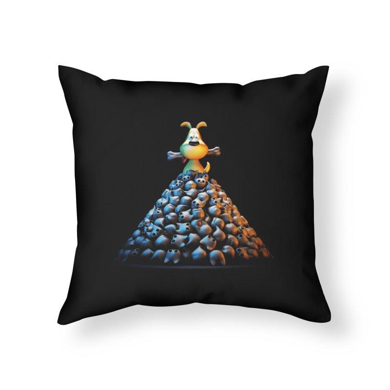 CAT-EATER Home Throw Pillow by YiannZ's Artist Shop